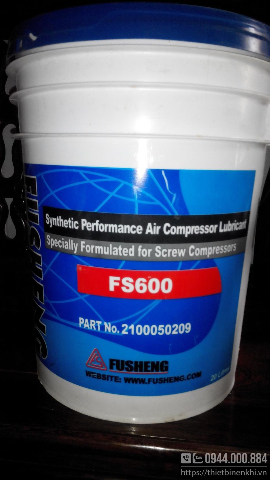 Dầu máy nén khí Fusheng FS 600