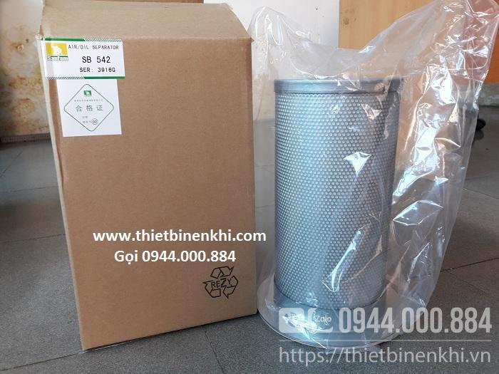 Lọc tách dầu máy nén khí Hitachi 50HP (SB542 3916G)