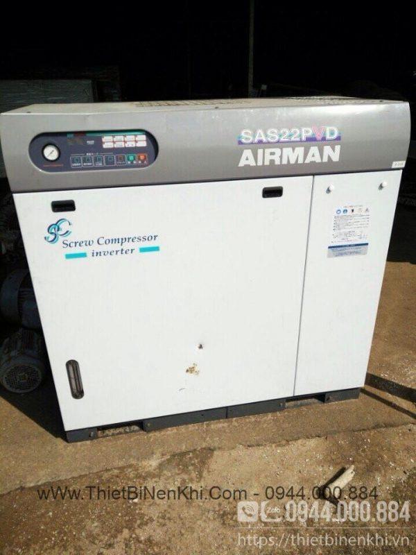 Máy nén khí Airman SAS22PVD 30HP inverter 95%