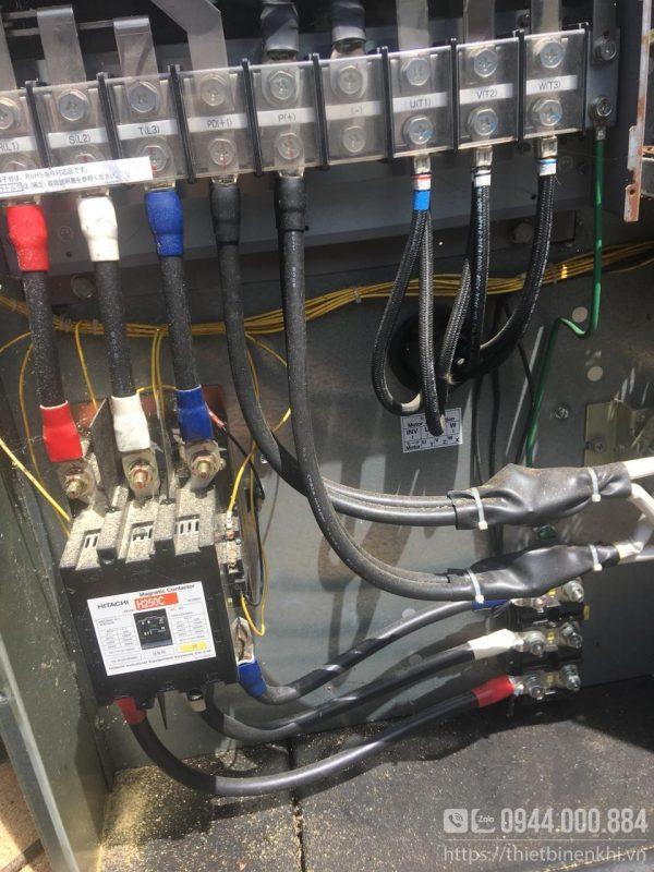 máy nén khí hitachi 75hp inverter