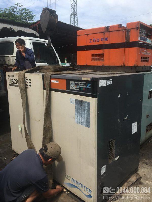 máy nén khí hitachi 55kw inverter