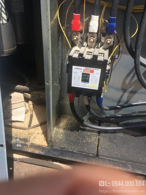 máy nén khí hitachi 75hp cũ