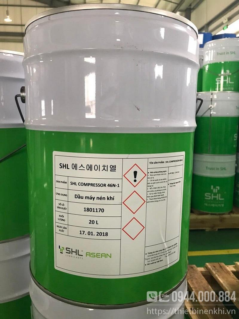 dầu máy nén khí trục vít