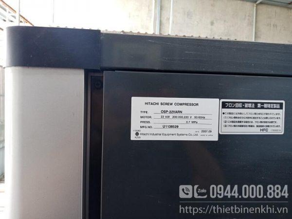 máy nén khí trục vít hitachi next series 22kw
