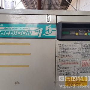 Máy nén khí không dầu cách âm Hitachi BEBICON 7.5Kw 10Hp