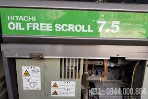 Máy nén khí không dầu Hitachi 7.5kw 10Hp nội địa Nhật
