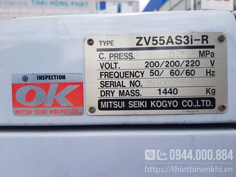 Máy nén khí Mitsuiseiki 75Hp nội địa Nhật